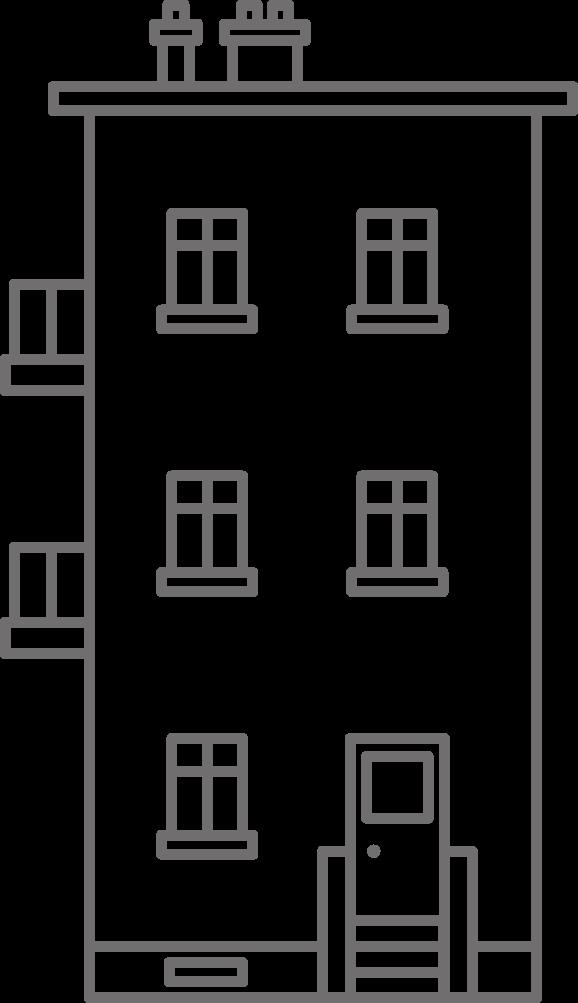 Trijų aukštų namas