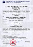 Gamybos kontrolės sertifikatas