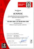 LSO sistemos sertifikatas